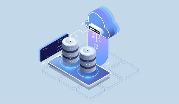 Moderne cloudtechnologie en netwerkconcept.