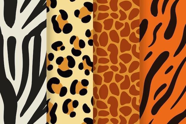Moderne collectie dierenprintpatronen