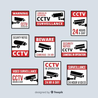 Moderne collectie van kabeltelevisie met plat ontwerp