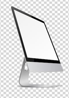 Moderne computermonitor met leeg scherm.