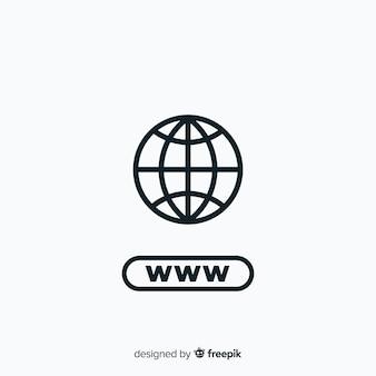 Moderne conectivity-embleemmalplaatje
