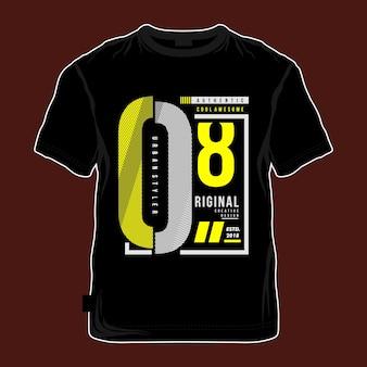 Moderne coole artistieke design t-shirt