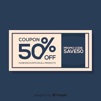 Moderne coupon of voucher sjabloon concept