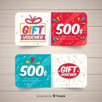 Moderne coupon of voucher sjabloon concept