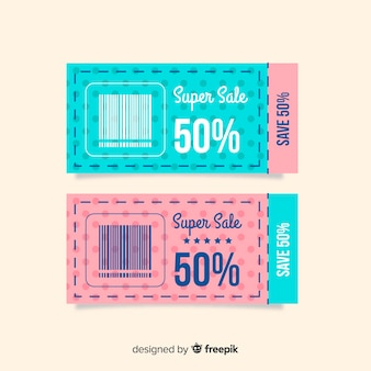 Moderne coupon sjabloon concept