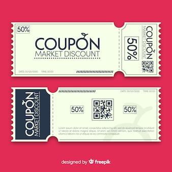 Moderne coupon sjabloonontwerp