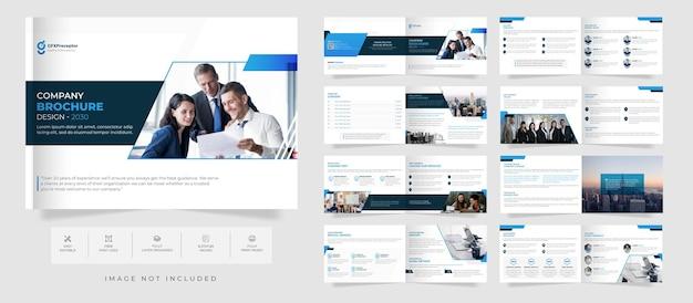 Moderne creatieve bedrijfsprofiel brochure ontwerpsjabloon