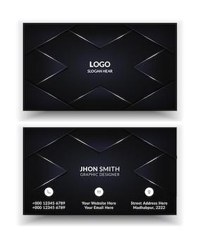 Moderne creatieve en schone sjabloon voor visitekaartjes.