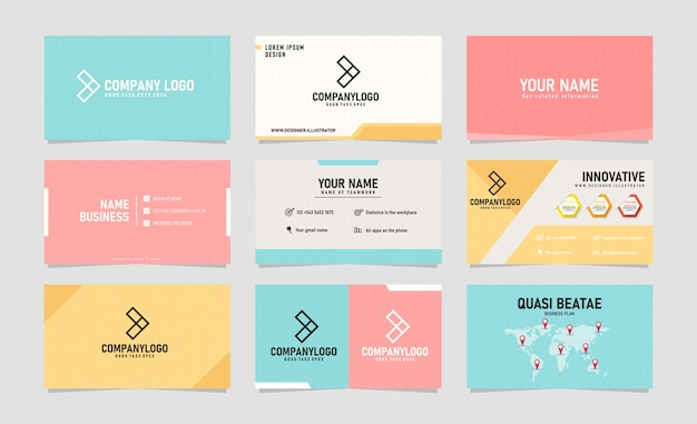 Moderne creatieve visitekaartje ontwerpsjabloon