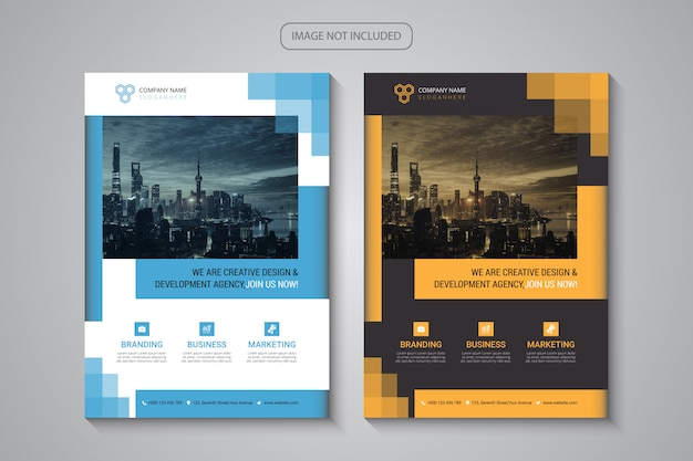 Moderne creatieve zakelijke flyer