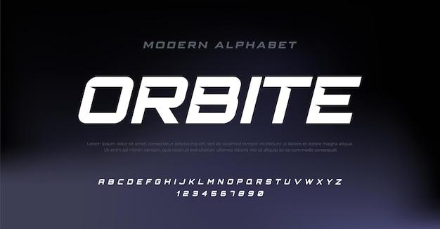 Moderne cursieve alfabet lettertype typografie stedelijke stijl lettertypen voor sport technologie digitale film logo