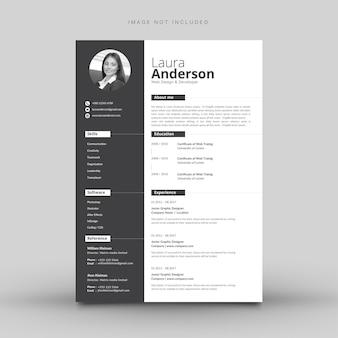 Moderne cv-sjabloon minimalistische cv-template