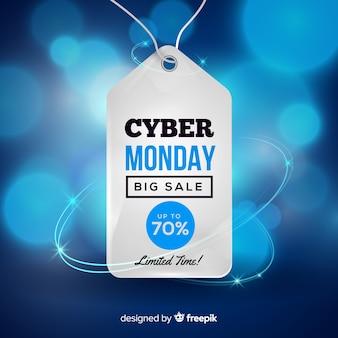 Moderne cyber maandag samenstelling met een realistisch ontwerp