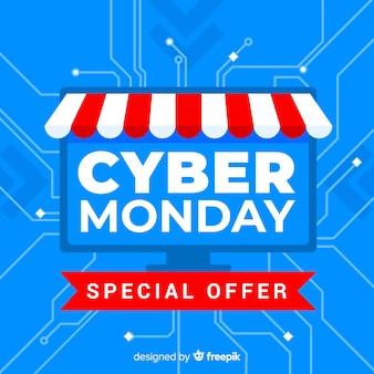 Moderne cyber maandag samenstelling met plat ontwerp