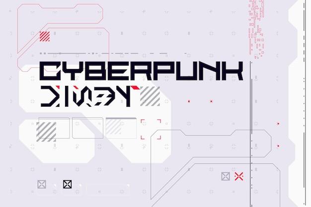 Moderne cyberpunk poster futuristische abstracte hud goed voor game ui vectorillustratie eps10