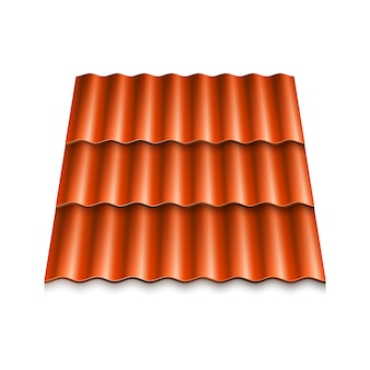 Moderne dakbedekkingen. gegolfde dakpan.