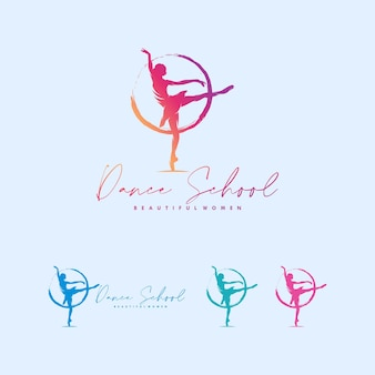 Moderne dansschool logo ontwerp