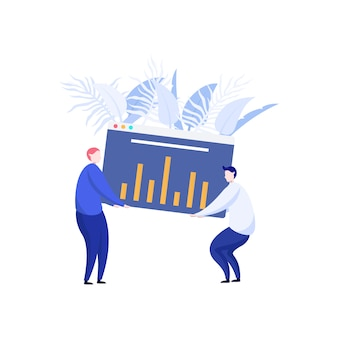 Moderne data-analyse illustratie