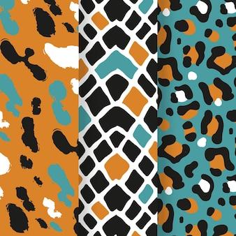 Moderne dierenprint patrooncollectie