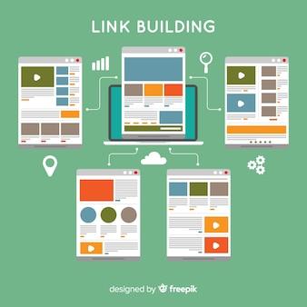 Moderne digitale marketingcompositie