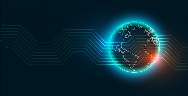 Moderne digitale technologie aarde achtergrond