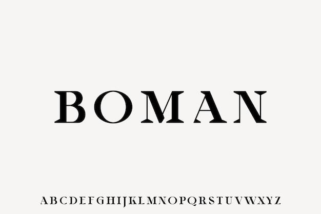 Moderne display alfabet lettertype vector