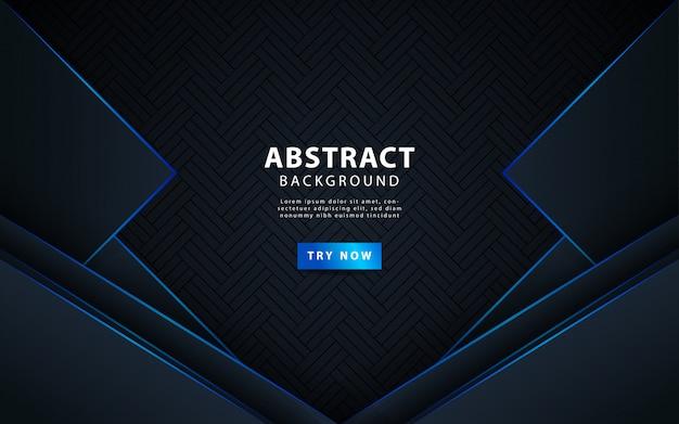 Moderne donkere abstracte achtergrond met blauwe lijn