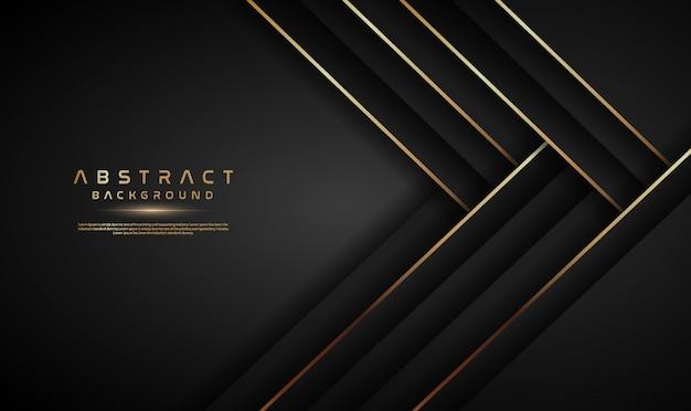 Moderne donkere abstracte achtergrond met gouden lijn