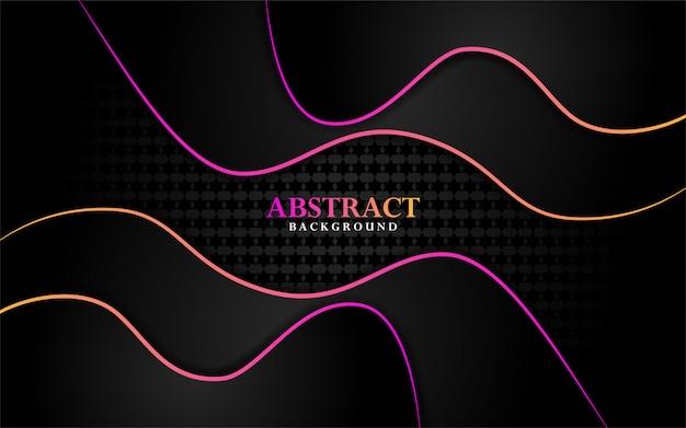 Moderne donkere achtergrond met kleurrijke glanzend lijn