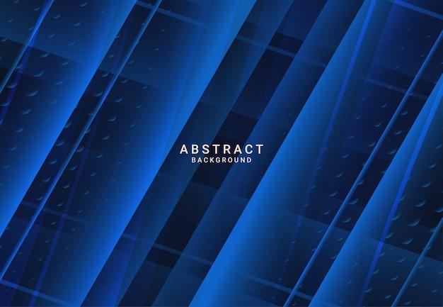 Moderne donkere luxe blauwe papieren achtergrond met 3d gelaagde lijn driehoek textuur voor website, visitekaartje ontwerp. vector illustratie