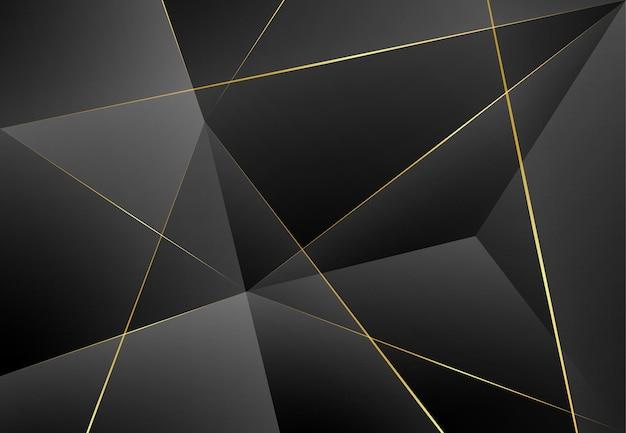 Moderne donkere luxe grijze papieren achtergrond met 3d gelaagde lijn driehoek textuur voor website, visitekaartje ontwerp. vector illustratie