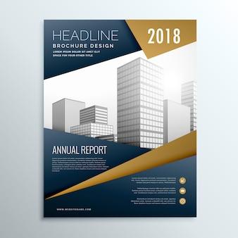 Moderne donkere zakelijke flyer brochure design template vector met geometrische vorm