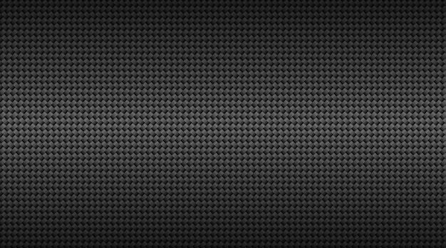 Moderne donkere zwarte koolstofvezel raster achtergrond.