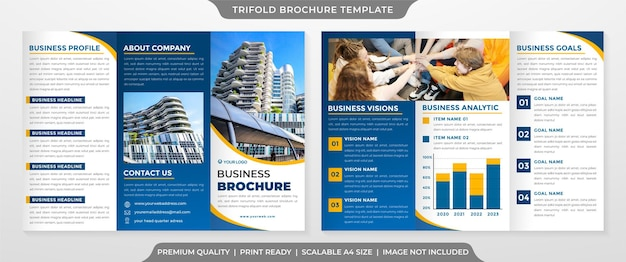 Moderne driebladige brochure sjabloon premium stijl