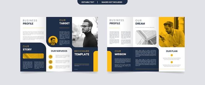 Moderne driebladige zakelijke brochure ontwerpsjabloon