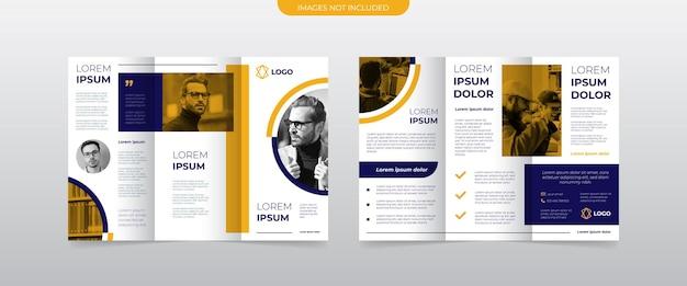 Moderne driebladige zakelijke brochuresjabloon