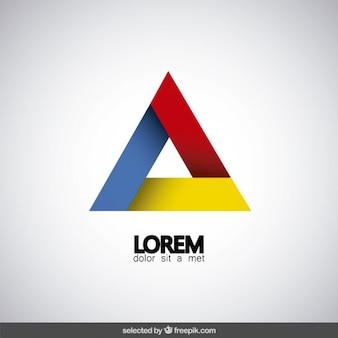 Moderne driehoekige logo