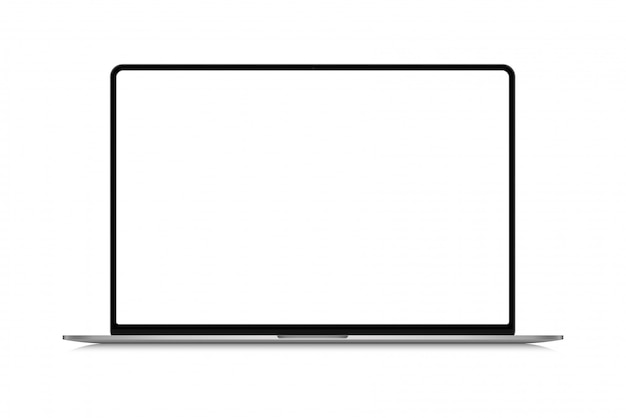 Moderne dunne frame realistische laptop