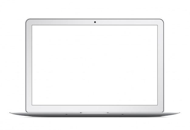 Moderne dunne laptop ultrabook geïsoleerd