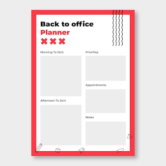 Moderne duotone back to office planner