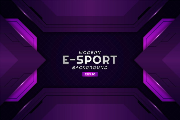 Moderne e-sport gaming achtergrond gloeiend paars futuristische premium technologie