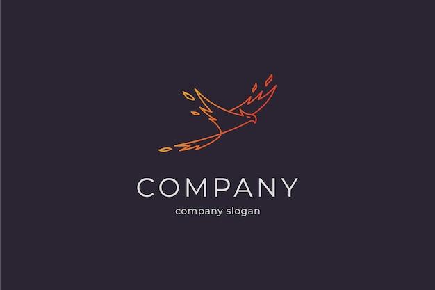 Moderne eenvoudige phoenix logo vector pictogram illlustration Premium Vector