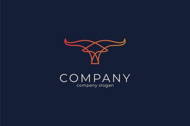 Moderne eenvoudige stier vector pictogram logo sjabloon