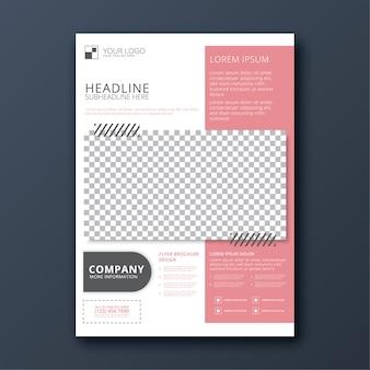 Moderne eenvoudige zakelijke folder sjabloon