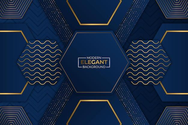 Moderne elegante achtergrond blauw en goud met glitter