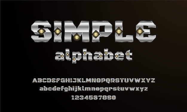 Moderne elegante alfabet lettertype. typografie stedelijke stijl lettertypen voor technologie, digitaal, filmlogo-ontwerp