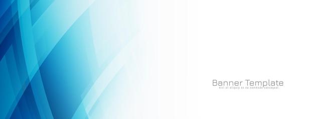 Moderne elegante blauwe geometrische banner