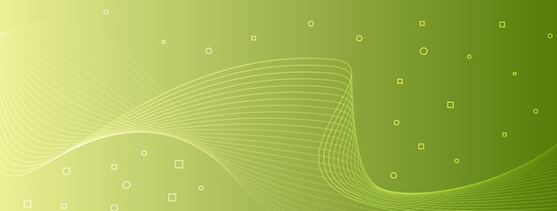 Moderne elegante golflijnen kromme abstracte cirkels vierkanten geel groen groen