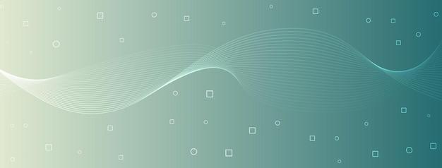 Moderne elegante golflijnen kromme abstracte cirkels vierkanten groenblauw zeeschuim groen