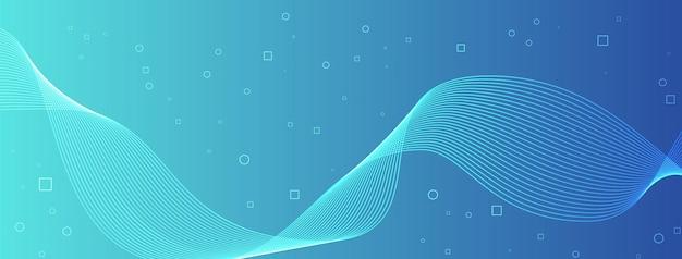 Moderne elegante golflijnen krommen abstracte cirkels vierkanten blauwe blauwe grot